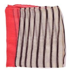 Silverhooks Vintage Red White Black Stripe Scarf